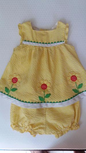 Vestido de Marca Americana para Niña Talla 12 Meses