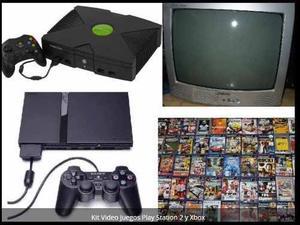 Kit Video Juegos Play Station 2 Y Xbox