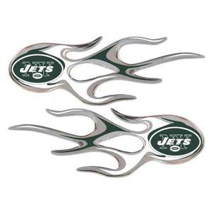 New York Jets De La Nfl Micro Llamas Auto Decal 2 Pack Para