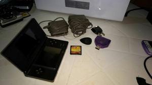 Nintendo Ds Lite Negro /azul Cobalto En Perfecto Estado