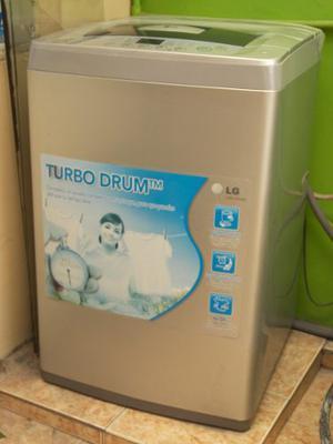 Lavadora Lg Turbo Drum 18 Libras En Excelente Estado