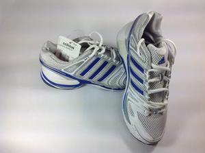 Tenis Adidas Hombre Blanco Y Azul Talla 38