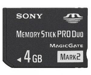 4gb De Memoria Stick / Tarjeta Pro Duo Para Sony Cyber ??sho