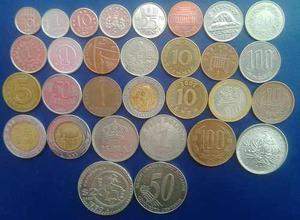 Colección De 30 Monedas Del Mundo