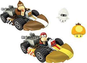 Knex Nintendo Wii Mario Kart Burro Y Diddy Kong Construir...
