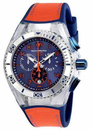Reloj Technomarine Tm- Color Naranja Y Azul