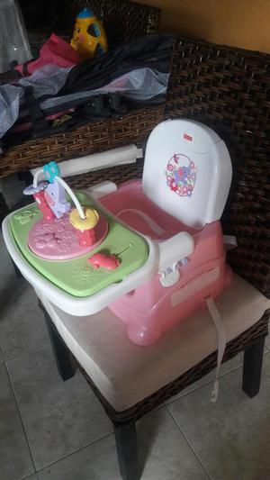 Silla Comedor Portatil Fisher Price Niña
