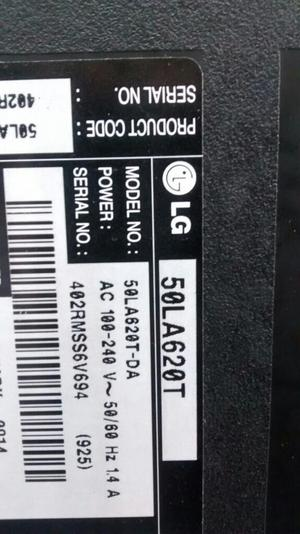Tv Lg 50 P. 50la620t para Repuesto