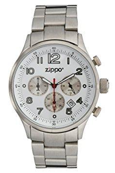 Zippo Reloj Deportivo Con Cronógrafo / Esfera Blanca Y Sól