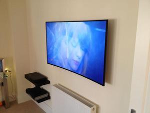 se vende televisor curvo samsung 55 pulgadas 4k