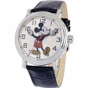 Reloj Negro Mickey Mouse Para Hombres