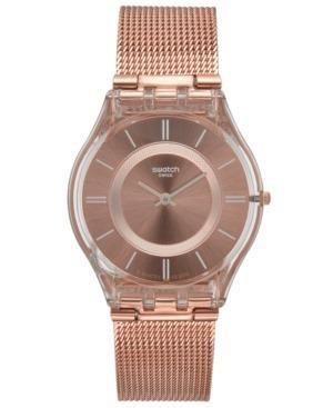 Reloj Swatch Sfp115m Metal Oro Rosado Mujer