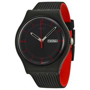 Reloj Swatch Suob714 Silicone Negro Hombre
