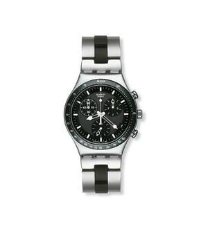 Reloj Swatch Ycs410gx Acero Negro Y Plateado Hombre