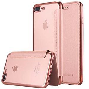 Iphone 7 Plus, Caso Lontect Ultra Slim Pu Cuero Folio Flip