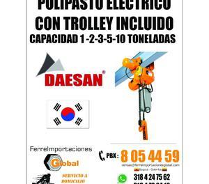 POLIPASTO TECLE DIFERENCIAL ELECTRICA CAP  TONELADAS