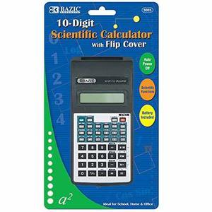 Bazic 10-digit Scientific Calculator W/ Flip Cover !