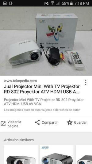 Se vende mini proyector led