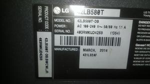 Vendo Smartv Lg 42 para Repuesto