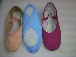 Zapatillas Ballet Lona Exelente Calida Ysuabida