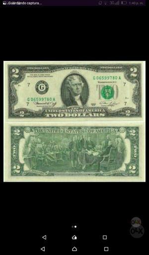 Billete Coleccion 2 Dolares