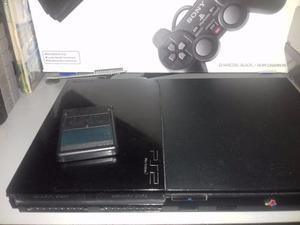 Consola Play Station 2 En Caja Y Dos Juegos Originales