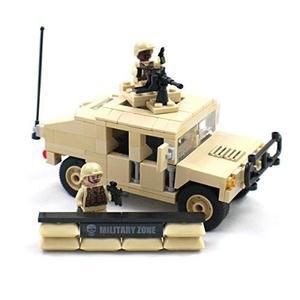 Hummer Militar Con Soldado Minifiguras, Montado En La Ametr