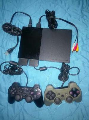 Play Station 2 - Dos Controles _ 2 Memory Card