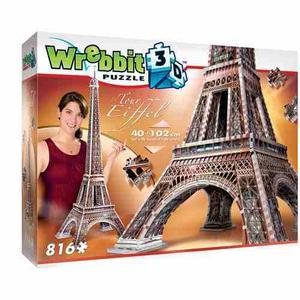 Rompecabezas 3d Torre Eiffel: 816 Piezas
