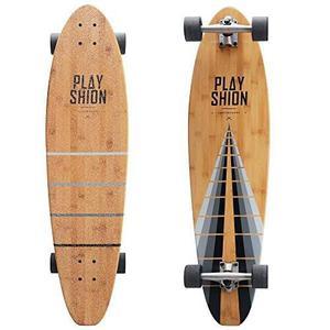 Playshion Kicktail Bamboo Longboard Monopatín 37 \