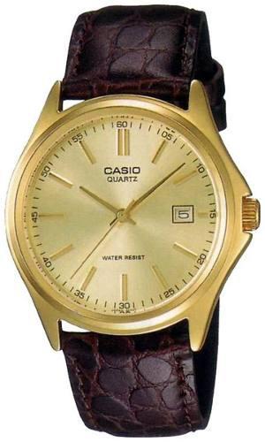 Reloj Casio Mtp-q-9a Cuero Marrón Hombre