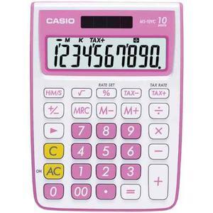 Calculadora De Función Estándar Casio Ms-10vc, Rosa