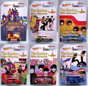 Hot Wheels A Escala Beatles Yellow Submarine De Coleccion