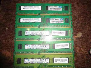 Memorias Ddr3 4gb Pcu mhz Samsung Y Micron