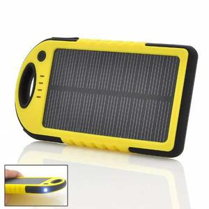 Power Bank Solar Carga Rápida Batería Impermeable