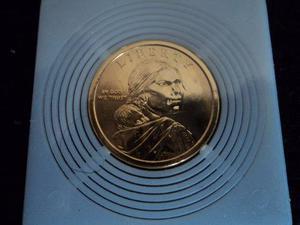 Bonita Moneda De Un Dolar - Enchapada En Oro - Subasta ¡¡