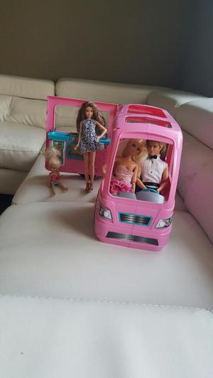 Casa Carro de La Barbie Y Familia Origin