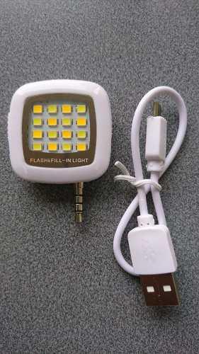 Flash Led Mini Portátil Para Celular Y Tablet Potente Luz