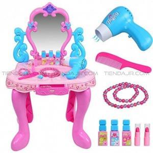 Peinador Tocador Beauty Play set Para niñas Con Luces y