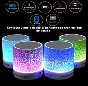 Parlante Bluetooth,luz,usb,microsd,fm Contestamanos Libres