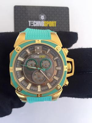 Reloj Technosport unisex nuevo color verde menta