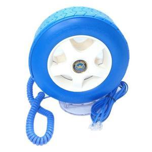 Teléfono Fijo Alámbrico En Forma Llanta Auto F1 - Azul