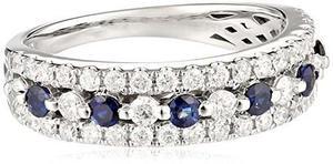 14 K Oro Blanco Diamante (3 / 4cttw, Hi En Color, !