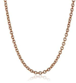 14k De Oro Rosa Italiana Rolo Cadena Collar 1.7mm, !