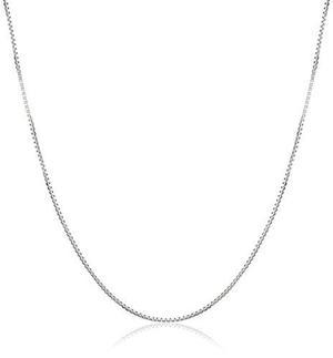 Caja Collar De Cadena Sólido Oro Blanco 10k.50mm, !