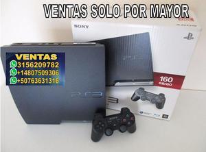 Consolas ps3 Sony PlayStation 3 Slim 160gb controles X2 2