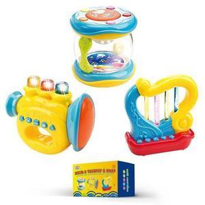 Instrumentos Musicales Para Bebés. Conjunto De 3 Trompeta,