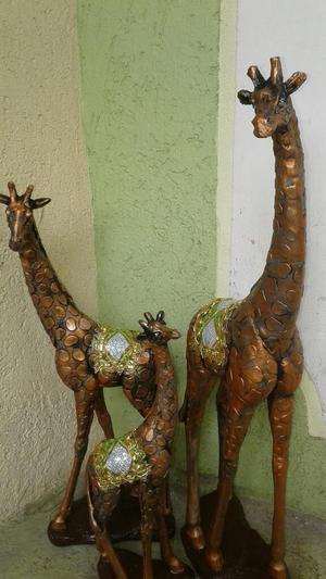 Jirafas De Madera Grande Decorativas