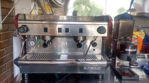 Máquina de café express y molino
