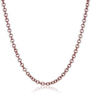14k De Oro Rosa Italiana Rolo Cadena Collar 2mm, !